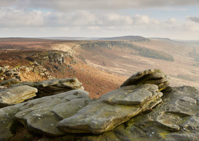 Stanage Edge from High Neb, Peak District National Park.
