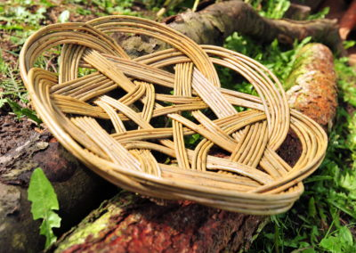 Feature on Rachel Evans is a willow basket maker.