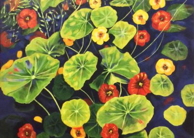 nasturtiums-painting
