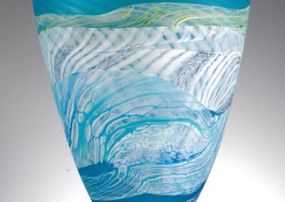 Thomas Petit Glass. Sea Shore - Spring Tides. Medium Bowl